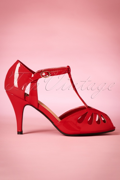 Dancing Days by Banned Secret Love Pumps in Red 401 20 20509 20170116 0021w