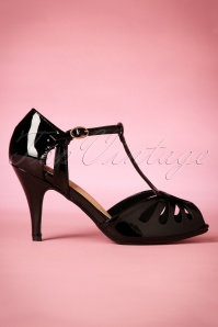 40s Secret Love Sandals in Black