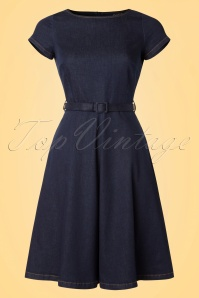 King Louie Dutch Blue Bettie Dress 102 30 19657 20170118 0003W