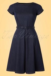 King Louie Dutch Blue Bettie Dress 102 30 19657 20170118 0003W