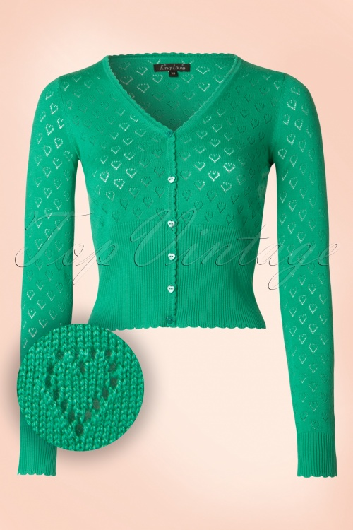 King Louie Hearts Spark Green Cardigan 140 40 20158 20170119 0002W1
