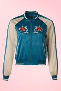King Louie Waterfall Floral Baseball Jacket 153 30 20211 20170119 0022W