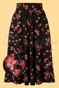 60s Serena Fleurette Skirt in Black