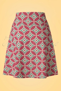 King Louie Border Skirt Green Red Flowers 123 57 20214 20170119 0009w