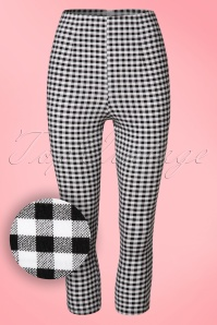 Bunny Black and White Checked Judy Capris 134 14 21058 20170120 0003W1