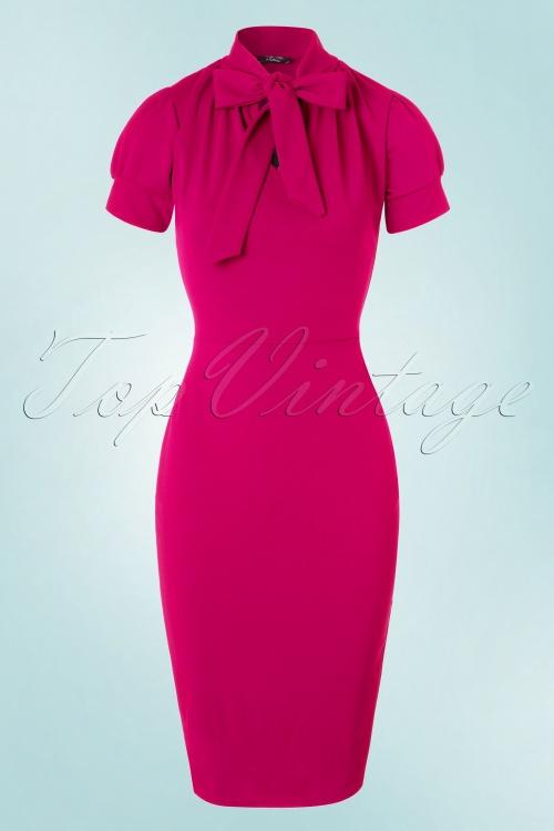 fuchsia roze jurk