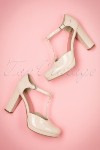 Tamaris Cream Patent Pumps 401 51 19847 01232017 017W