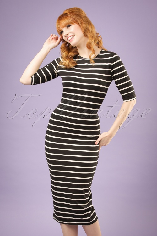 Sugarhill Boutique Octavia Striped Bodycon Dress 100 14 19909  20161111 10w