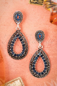 20s Classy Drop Earrings in Midnight Blue