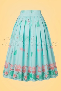 Dancing Days by Banned Going My Way Flamingo Skirt in Blue 122 39 20923 20170124 0009w