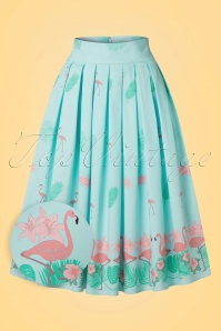 Dancing Days by Banned Going My Way Flamingo Skirt in Blue 122 39 20923 20170124 0002wv