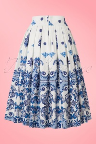 Dancing Days by Banned Gemini Skirt White and Blue 122 59 20955 20170124 0008w