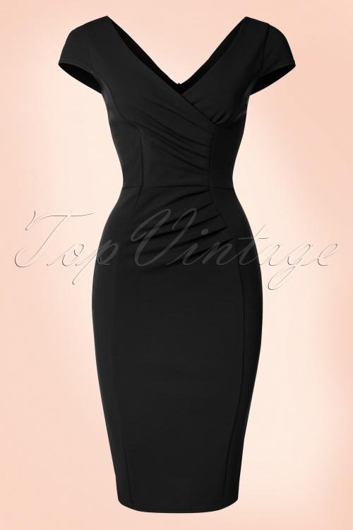 Vintage Chic Scuba Crepe BlackPencil Dress 100 22 20981 20170123 0021W