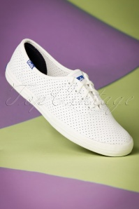 50s Champion Retro Court Leather Sneakers in White