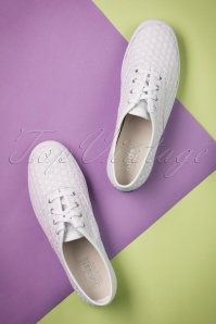 Keds Champion Mini Daisy White Sneakers 451 50 19543 01242017 018W
