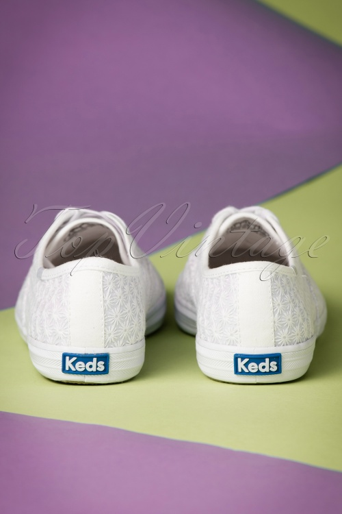 78568279f8eb Keds Champion Mini Daisy White Sneakers 451 50 19543 01242017 014W