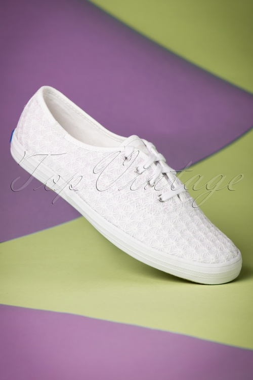 Keds Champion Mini Daisy White Sneakers 451 50 19543 01242017 006W