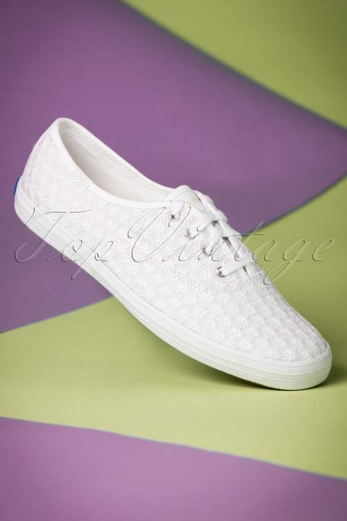Keds Champion Mini Daisy White Sneakers 451 50 19543 01242017 006W
