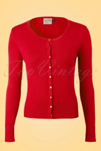 50s Getaway Cardigan in Red