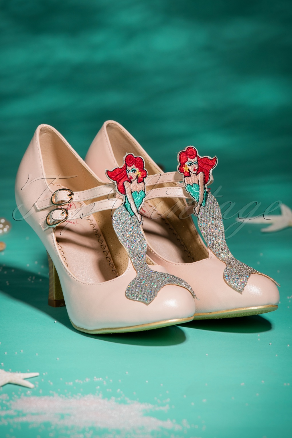Vintage Style Wedding Shoes, Boots, Flats, Heels 50s Stella By Starlight Pumps in Pink £74.72 AT vintagedancer.com