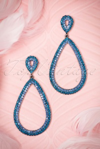 Glamfemme Silver and Blue Diamant Earrings 335 30 20882 01262017 001W