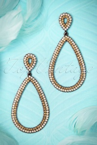 Glamfemme Gold and White Diamant Earrings 334 50 20883 01262017 005W