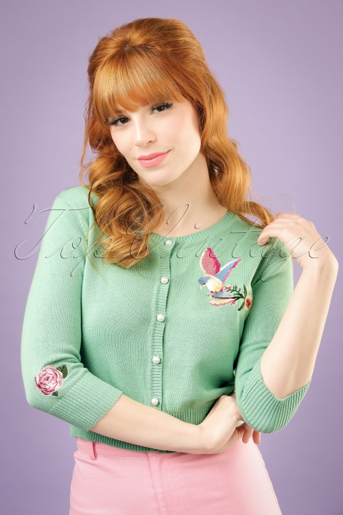 Collectif Clothing Lucy Romantic Bird Cardigan 20752 20121224 0001w