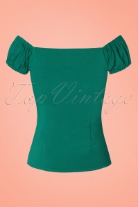 Collectif Clothing Dolores Top in Green 110 40 20425 20170130 0002w