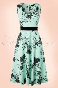 Vintage Chic Veronica Mint Dress Flower Print 102 39 19387 20160629 0003W