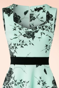 Vintage Chic Veronica Mint Dress Flower Print 102 39 19387 20160629 0003C