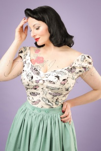 Collectif Clothing Dolores 50s Car Top 20671 20121224 0002w