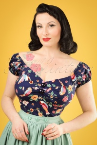 Collectif Clothing Dolores Charming Bird Top 20787 20121224 0001w