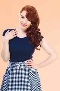 Collectif Clothing Alice Top Blue 111 20 14390 Model