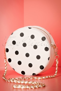50s Celladora Polkadot Tote Bag in Ivory