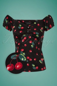 Collectif Clothing Dolores 50s Cherry Top 110 14 16187 20170130 0002wv