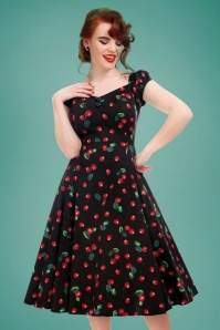 Collectif Clothing Dolores 50s Cherry Swing Dress 102 14 20427 20170130 0027