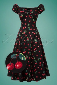 Collectif Clothing Dolores 50s Cherry Swing Dress 102 14 20427 20170130 0020wv