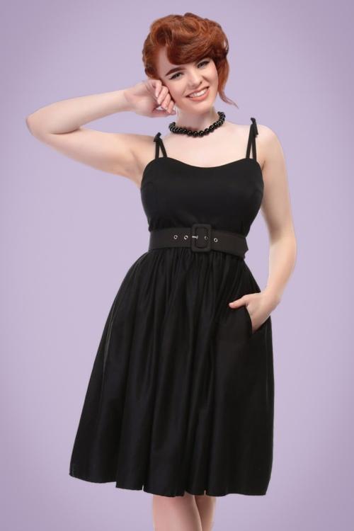 50s Jade Swing Dress in Black