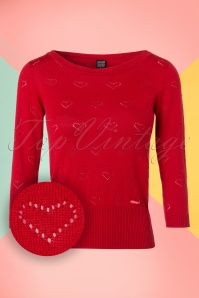 Mademoiselle Yeye Bessie Top in Red 19906 20161117 0003W1