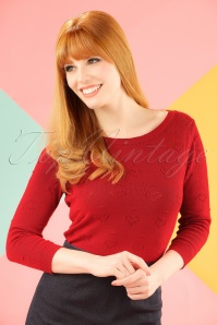 50s Bessie Top in Red