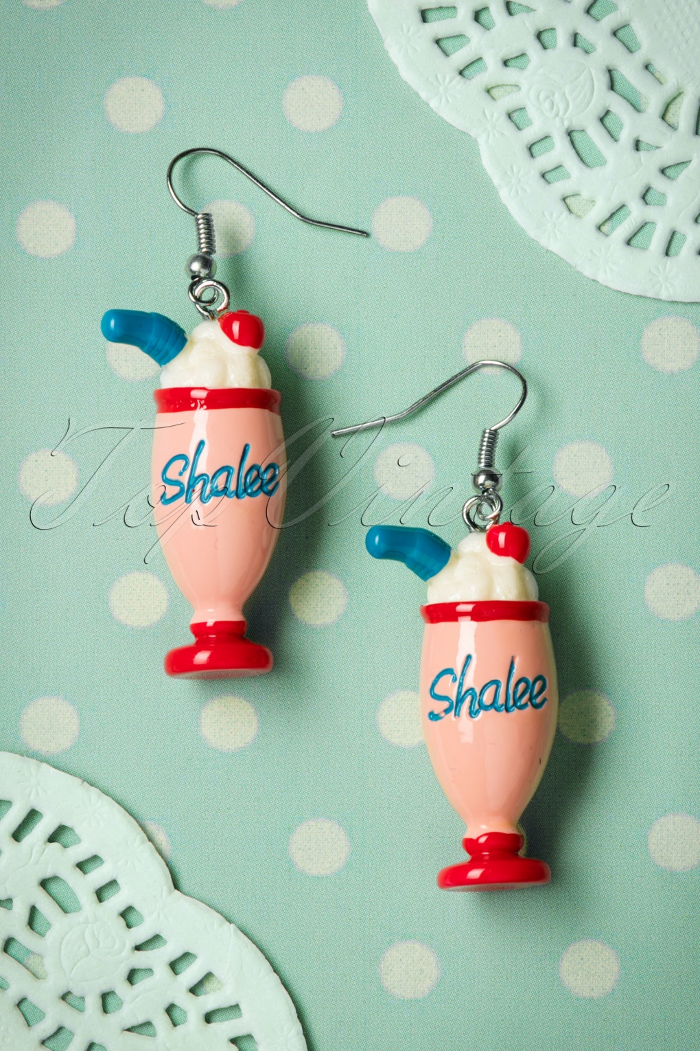 1950s Jewelry Styles and Trends to Wear Again 50s Milkshake Earrings £8.64 AT vintagedancer.com