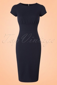 Mademoiselle Yeye 66 Linn Navy Pencil Dress 19902 20161116 0001w