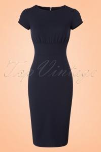 Mademoiselle Yeye 66 Linn Navy Pencil Dress 19902 20161116 0001w