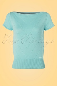 Mademoiselle Yeye Solene Top in Mint 19905 20161117 0006W