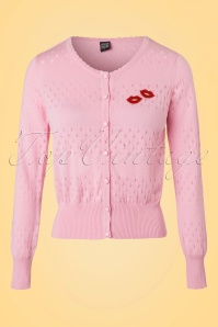 Mademoiselle Yeye Lovelyn Cardigan in Pink 19883 20161117 0003W