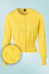 Mademoiselle Yeye Lovelyn Cardigan in Yellow 19903 20161117 0003W1