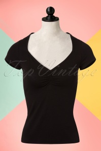 King Louie Diamond Neckline Black Basic Top 111 10 20181 20170109 0001aW