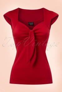 Steady Clothing Solid Sweatheart Top in Red 110 20 20771 20170131 0003w