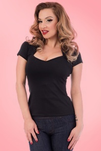 Steady Clothing Piped Sophia Tee In Black 111 10 10636 20151123 0006