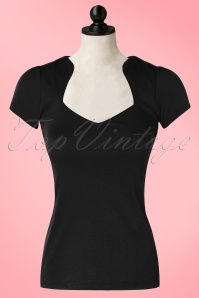 Steady Clothing Piped Sophia Tee In Black 111 10 10636 20151123 0003wdoll